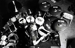 Image of Stewart Copeland behind the drums