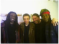 Me With Living Colour, 28-10-04, L-R: Will Calhoun, Me, Martin Byrne, Vernon Reid