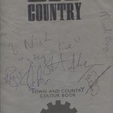 Big Country, 'Steeltown' Tour Programme, signed by the band