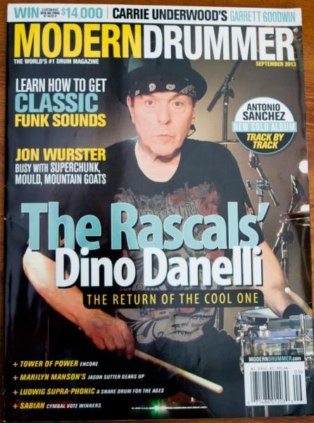 Modern Drummer cover, September 2013