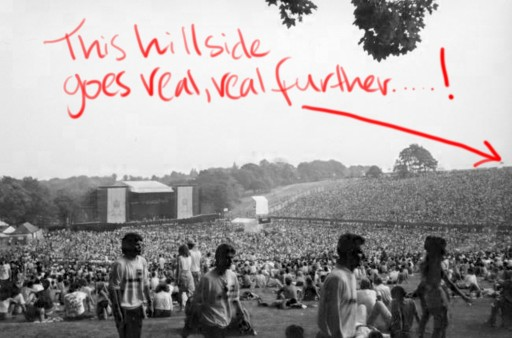 Roundhay Park, Leeds, circa 1989, original image by Kevin Rogers