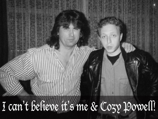 Nick Lauro and Cozy Powell, circa 1995