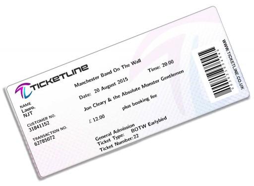 Jon Cleary Ticket