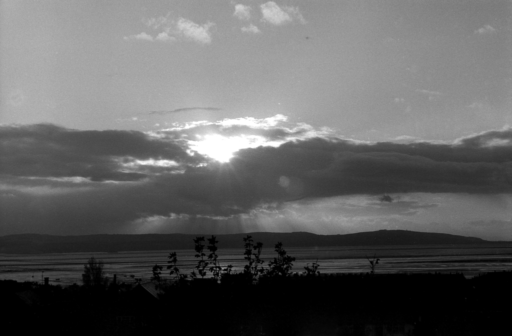 View of Welsh Hills from Devonshire Road, West Kirby