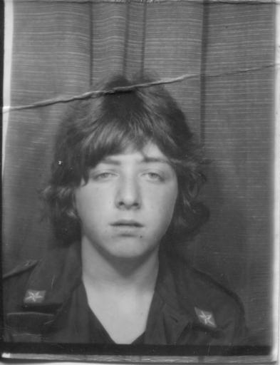 Bus-Pass mugshot, photobooth, circa 1981