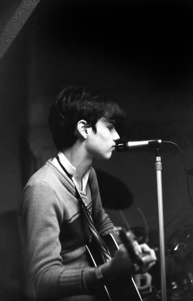 Gareth 'Gaz' Hill, rehearsing, 1981