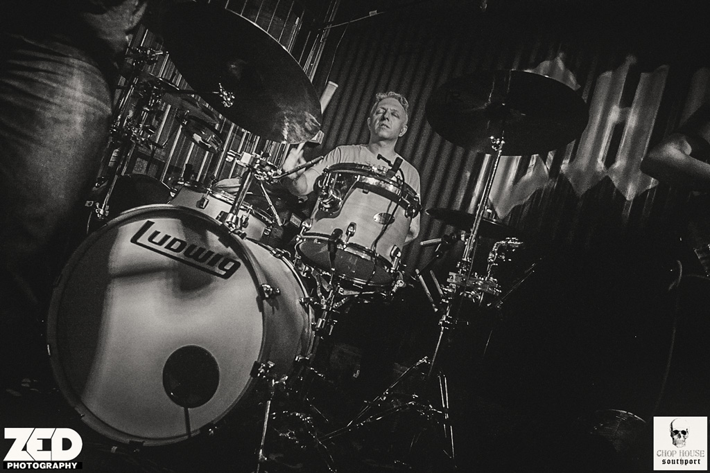 Nick Lauro playing drums